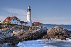 Portland head Light - Lighthouse Royalty Free Stock Image