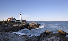 Portland head Light - Lighthouse Royalty Free Stock Photography