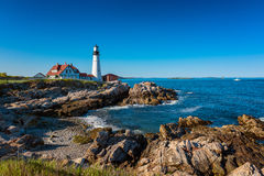 Portland Head Light Lighthouse in Cape Elizabeth Maine Royalty Free Stock Images