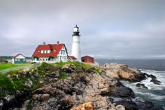 Portland Head Light, Maine. Portland Head has long protected Portland and the adjacent area. Cape Elizabeth residents were deeply committed to American Royalty Free Stock Photos
