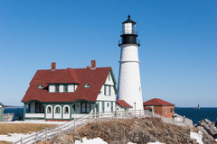 Portland Head Light. This is Portland Head Light, near Portland, Maine Stock Photos