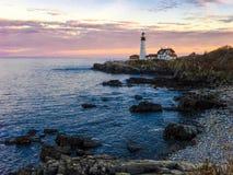 Portland Head Light at Sunset Stock Image