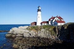 Free Portland Head Lighthouse Royalty Free Stock Photography - 8377