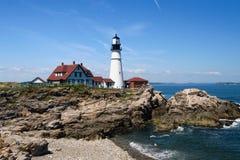 Portland Head Lighthouse. A photo of the Portland Head lighthouse in the state of Maine Royalty Free Stock Image
