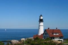 Portland Head Lighthouse. A photo of the Portland Head lighthouse in the state of Maine Royalty Free Stock Photos