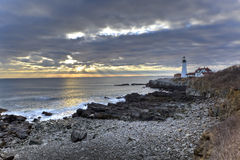 Portland Head Lighthouse Royalty Free Stock Photos