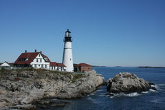 Portland Head Lighthouse. In Maine Stock Images