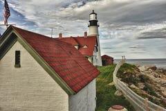 Portland Head Lighthouse. Cape Elizabeth Maine Stock Photos