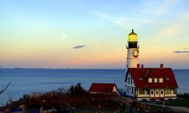Portland  Head Lighthouse,, Cape Elizabeth Maine Stock Photo