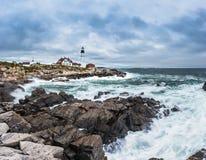 Portland Head Lighthouse in Cape Elizabeth, Maine Royalty Free Stock Image