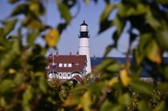The Portland Head Lighthouse. In Cape Elizabeth, Maine, USA Stock Image