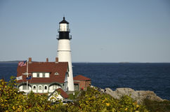 The Portland Head Lighthouse. In Cape Elizabeth, Maine, USA Royalty Free Stock Images