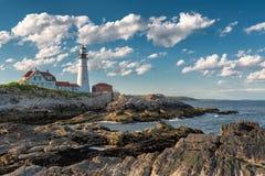 The Portland Head Lighthouse in Cape Elizabeth stock photos