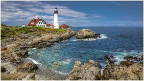 Portland Head Lighthouse 4 royalty free stock photo