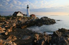 Portland Head Lighthouse Dawn Royalty Free Stock Photography