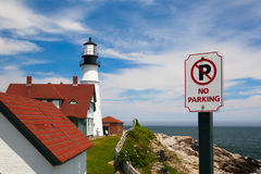 Portland Head Lighthouse at Fort Williams Park in Cape Elizabeth Stock Image