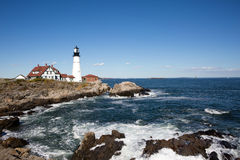 Portland Head Lighthouse Maine. Portland Head Lighthouse, operated by the United States Coast Guard, has guided shipping around Cape Elizabeth, Maine, USA since Royalty Free Stock Photography