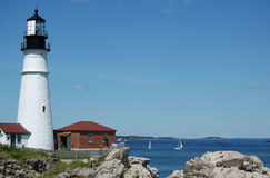 Portland Head Lighthouse, Portland, ME. On a clear summer day royalty free stock photography