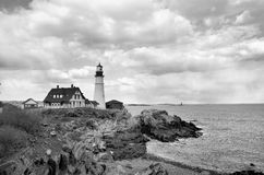 Portland Headlight Stock Photo