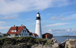 Portland Headlight Royalty Free Stock Photography