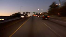 Portland Highway Driving Dusk stock footage