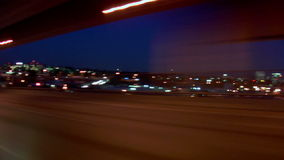 Portland Highway Driving Evening Angle View stock footage