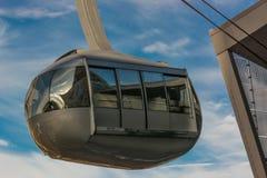 Portland-Himmel-Tram stockbild
