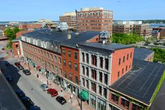 Portland Historic Downtown, Maine, USA Royalty Free Stock Images
