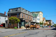 Portland historiskt östligt slut, Maine, USA royaltyfri fotografi