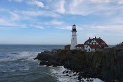 Portland huvudljus, Maine USA Fotografering för Bildbyråer