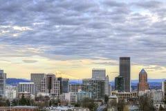 Portland-im Stadtzentrum gelegene Skyline Stockfotos