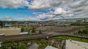 Portland Industrial Freemont 531 stock video footage