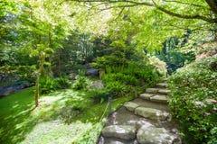 Portland Japanese garden. Nice landscape desing. Well kept garden. Stock Images