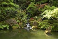 Portland Japanese Garden in Spring. Portland, OR USA - May 9th, 2018. The Portland Japanese Garden is a traditional Japanese Garden, located within Washington stock photo