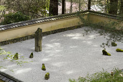 Portland Japanese Sand and Stone Garden Royalty Free Stock Images