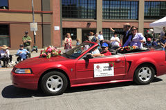PORTLAND - JUNE 12: ROSE FESTIVAL ANNUAL PARADE. Stock Images