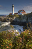Portland Light in Maine on a beautiful sunny day Royalty Free Stock Photos