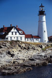 Portland lighthouse. One of the most beautiful lighthouses on the east coast of maine royalty free stock photo