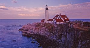 Portland lighthouse. Beautiful portland lighthouse in portland maine stock images