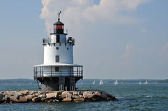 Portland lighthouse. Beautiful Portland lighthouse in a sunny day Royalty Free Stock Photos