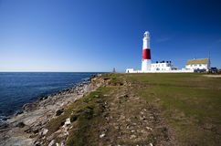 Portland lighthouse bill. New Portland lighthouse bill in dorset,england Stock Photo