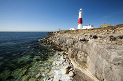 Portland lighthouse bill. New Portland lighthouse bill in dorset,england Royalty Free Stock Photos