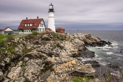 Portland lighthouse on the cape royalty free stock image