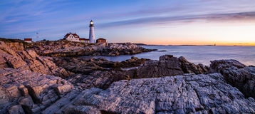 Portland Lighthouse at Dawn royalty free stock images