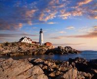 Portland Lighthouse Morning Royalty Free Stock Photos