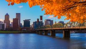Portland, lungomare dell'Oregon Fotografia Stock
