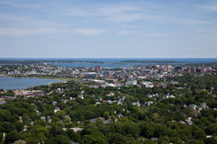 Portland Maine Aerial Stock Photo