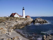 Portland Maine Head Light Arkivfoto