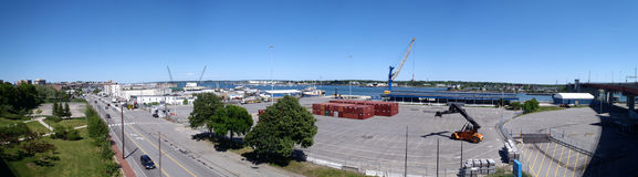Portland Maine Panoramic Royalty Free Stock Images
