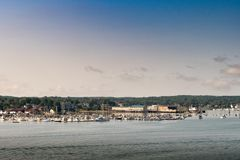 Portland Mane Marina and scenic view royalty free stock image